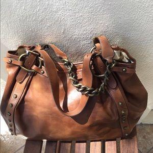 Stuart Weitzman Bags - STUART WEITZMAN leather gromet oversize bag